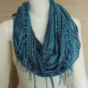 3/$20 Shimmer Fringed Infinity Scarf